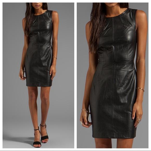 Trina Turk Dresses & Skirts - Trina Turk Carnegie black leather sheath dress